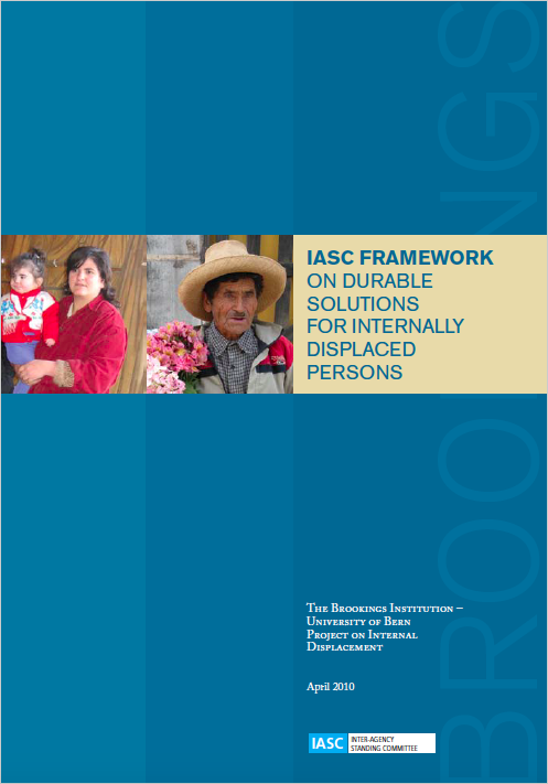 IASC Framework on Durable Solutions for Internally Displaced Persons