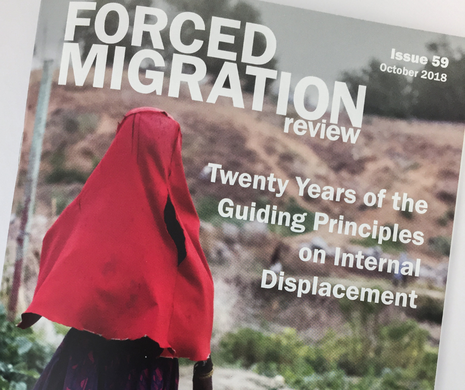 Forced Migration Review Issue 59: Improving IDP Data to Help Implement the Guiding Principles