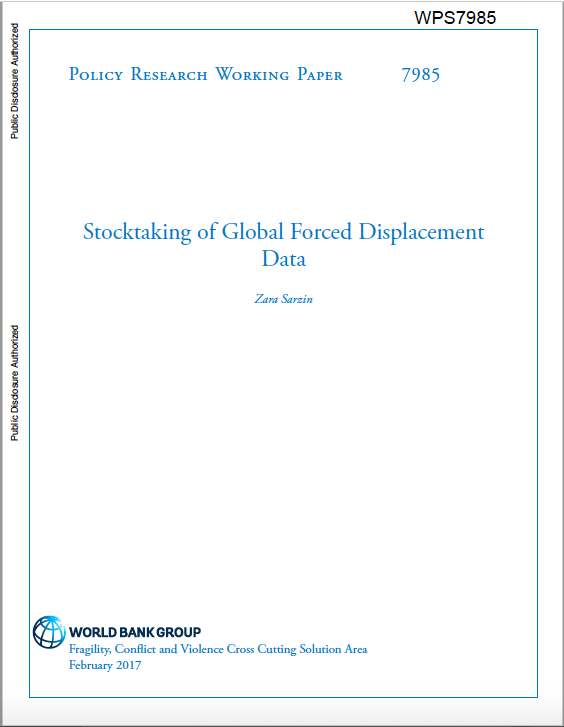 World Bank: Stocktaking of Forced Displacement Data (2017)