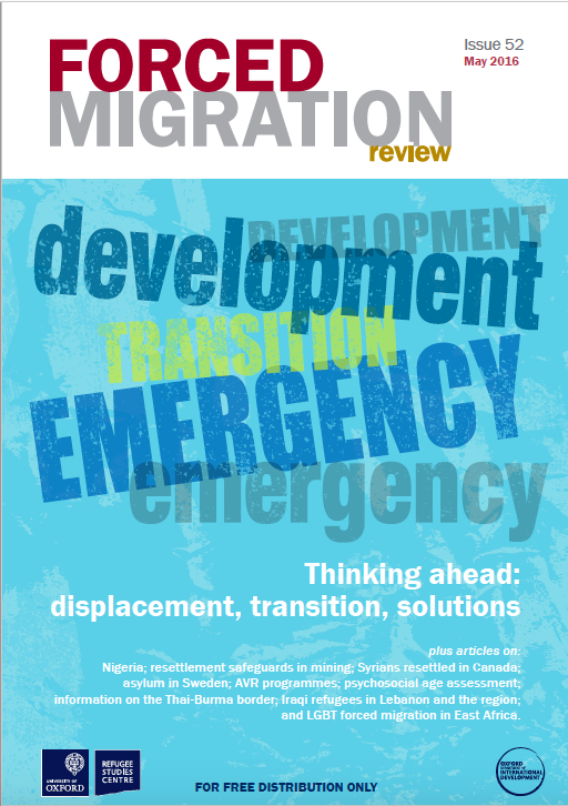 Forced Migration Review 52: Thinking Ahead - Displacement, Transition, Solutions (2016)
