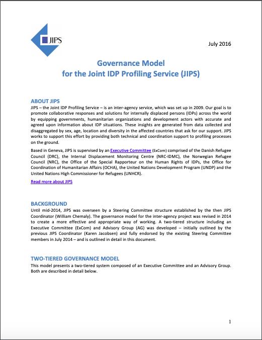 JIPS' Governance Model
