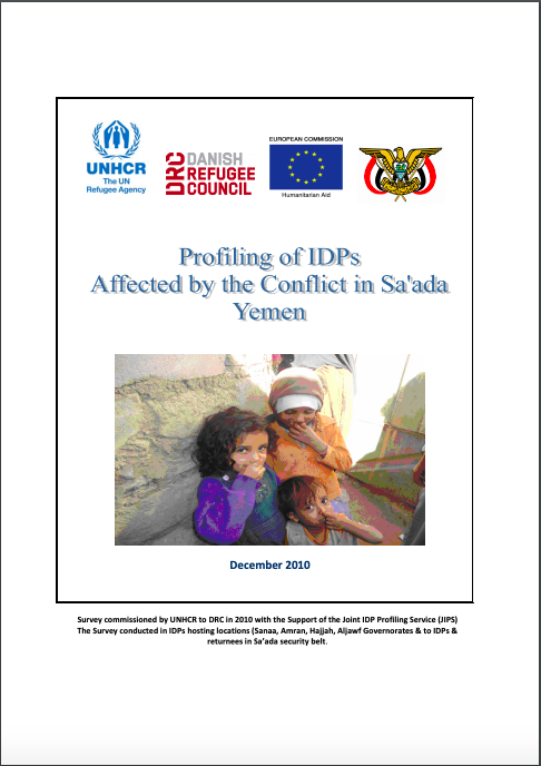 Profiling of IDPs Affected by the Conflict in Sa'ada, Yemen (2010)