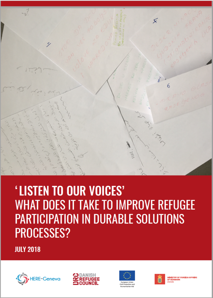 DRC, HERE-Geneva - 'Listen to Our Voices', What does it Take to Improve Refugee Participation in Durable Solutions Processes?