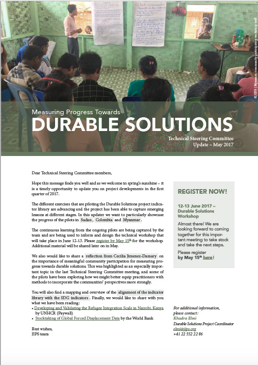 Durable Solutions Project: Technical Steering Committee Update (2017)
