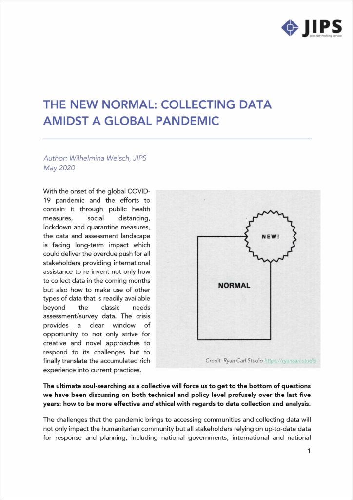 The New Normal: Collecting Data Amidst a Global Pandemic (May 2020)