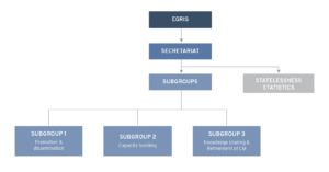 EGRIS' governance structure as of January 2021.
