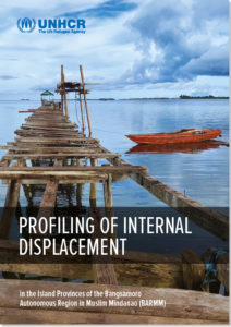 Cover of the profiling report on internal displacement in the BaSulTa provinces, BARMM region (Philippines, July 2021).