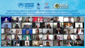 Screenshot of the participants on day 1 of the workshop