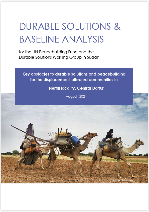 Durable Solutions & Baseline Analysis |Locality Reports (PBF & DSWG Sudan, 2021)